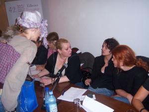 Montenegrin authors Tanja Bakic, Lena Ruth Stefanovic, Gaga Trpkovic, Jelena Nelevic