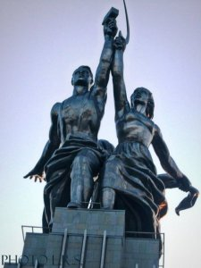 The Worker and The Kolhoz Woman Monument, Moscow, Russia; Vera Mukhina