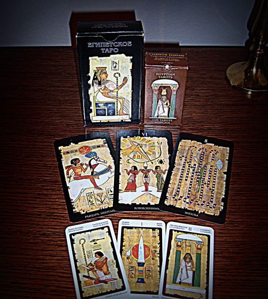 Egyptian Tarot by Lo Scarabeo, regular and mini decks