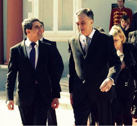 on official visit: president of Bulgaria H.E. Mr Rosen Plevneliev in Montenegro, with our head of state H.E. Mr Filip Vujanovic
